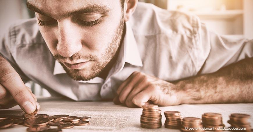 Tagessatz Berater - Trainer zählt Geld