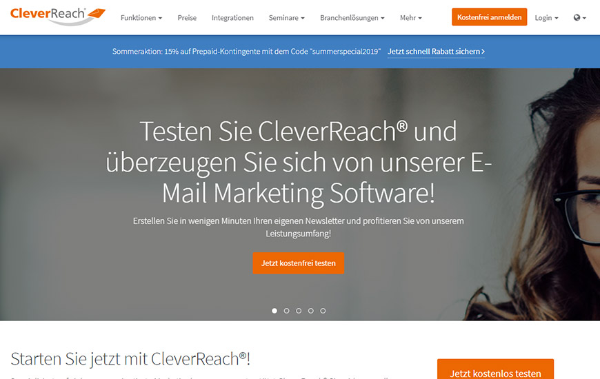 E-Mail-Marketing Software Cleverreach